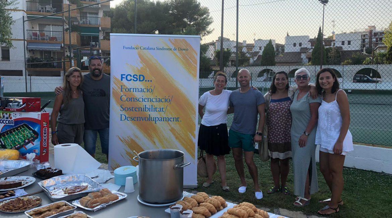 Fundacio catalana sindrome de down. chocolatada solidaria . Les Piscines Club Nàutic.