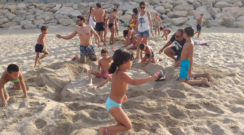 concurso de castillos de arena.