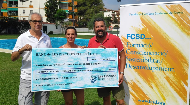 Fundació catalana síndrome de down. acciones solidarias. Les Piscines Club Nàutic