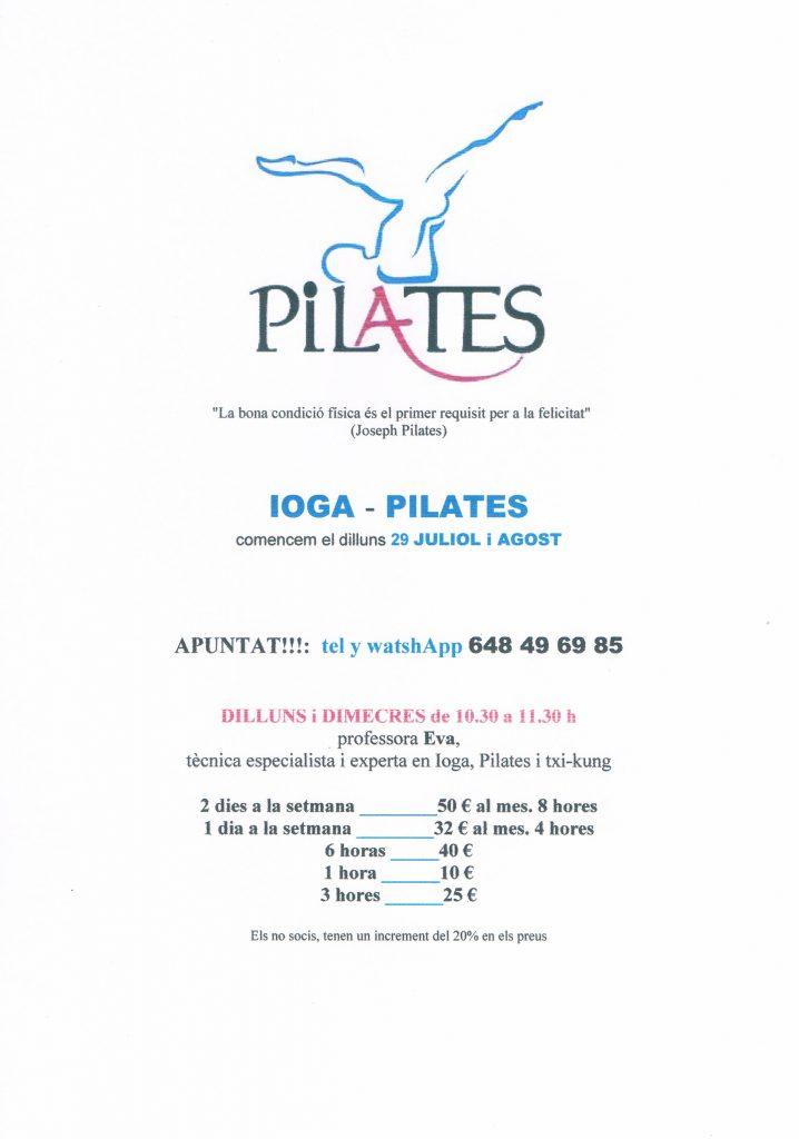 Pilates a Les Piscines Club Nàutic. Classes de pilates. Roda de Berà. Tarragona
