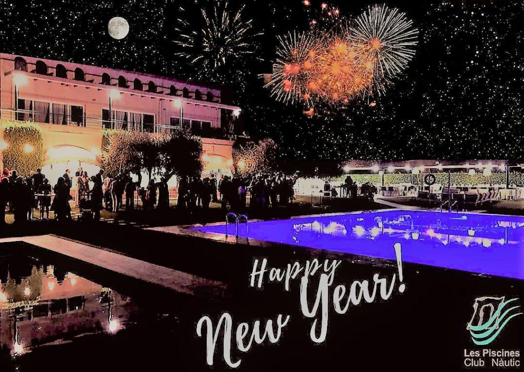 Feliç any nou, Feliz 2020. Happy new year 2020. Tarragona. Costa Daurada